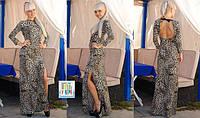 Платье леопардовое в пол 3019  $