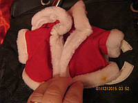 Новый год платье пальто деда мороза на куклу плащ