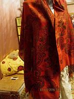 Палантин большой стильный фирменный шарф шаль