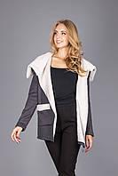 Куртка из теплого трикотажа на меховой основе , фото 1