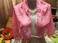 Шарф палатин розовый барби легкий красивый платок