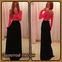 Вечернее платье Василек Ян коралл+черное  $