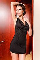 1055DB Платье Модное Черное Открытая Спина S/M/L