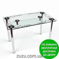 """Стол кухонный стеклянный """"Скиф S-2"""". Разные раскраски"""