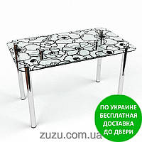 """Стол кухонный стеклянный """"Грация S-2"""". Разные раскраски"""