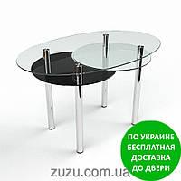 """Стол кухонный стеклянный """"Лагуна"""". Разные раскраски"""