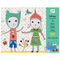 DJECO Художественный комплект Коллаж для самых маленьких Малыши