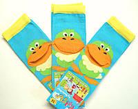 """Яркие носки с 3-D рисунком детские """"уточка"""" бирюзового цвета"""