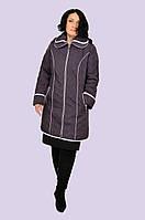 Красивая демисезонная куртка плащ большого размера 52-60