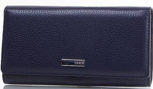 Удобный женский кошелек из натуральной кожи KARYA (КАРИЯ) SHI1132-44FL синий