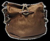 Прекрасная женская сумочка коричневого цвета тканевая