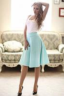 Расклешенная юбка  миди