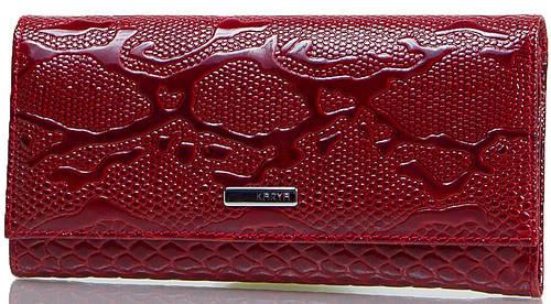 Качественный женский кошелек из натуральной кожи KARYA (КАРИЯ) SHI1101-019 красный