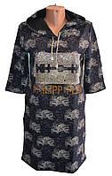 Платье женское батал с капюшоном