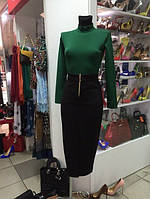 Стильная юбка с короткой молнией впереди