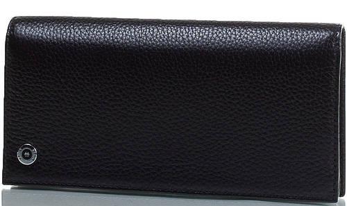 Строгий мужской кошелек из натуральной кожи KARYA (КАРИЯ) SHI1097-45FL черный