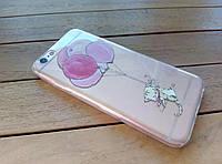 Силиконовый чехол для iPhone 6/6s кот и шарики