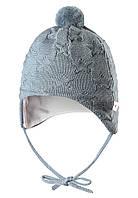 Вязанная шапка с помпоном для мальчика Reima 518376-6770. Размер 40,44.