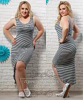 Женское модное платье-майка большого размера