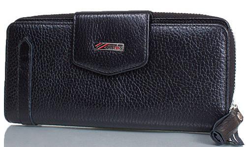 Фирменный женский кошелек из натуральной кожи DESISAN (ДЕСИСАН) SHI731-1-2FL черный