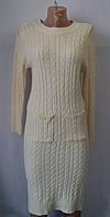 Платье вязаное с карманами в цветах  Х 0626/2
