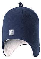 Флисовая зимняя шапка для мальчика Reima 528452-6980А. Размер 50-54.