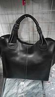 Большая кожаная фирменная женская сумка в сумке