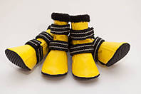 Сапоги желтые для йорка Vip Doggy размер 0 (4шт)