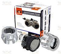 Комплект биксеноновых линз Silver Star Morimoto Mini H1 G5 с ангельскими глазками