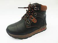 Ботинки демисезонные для мальчиков на шнурках и молнии