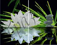 Схема для вышивки бисером Диптих.Белая лилия КМД 2002