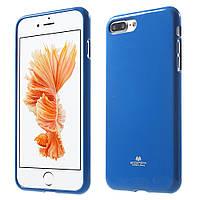 Чехол накладка силиконовый TPU Mercury iJELLY Metallic для Apple iPhone 7 Plus 5.5 синий