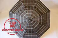 Зонт от дождя полуавтомат в клетку Универсальный
