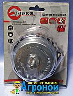 """Щетка чашечная 100 мм для дрели, 1/4"""" (пучки витой проволоки) Intertool BT-3100"""