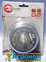 """Щетка чашечная 100 мм для дрели, 1/4"""" (витая проволка) Intertool BT-9100"""