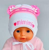 Шапка на завязках для новорожденных