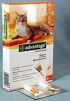 Advantage 40 капли от блох для кошек весом до 4кг
