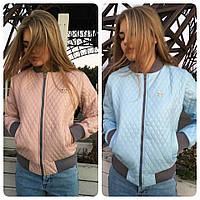 Куртка женская Chanel  из стеганного кожзама разные цвета SRM205