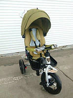 Трехколесный велосипед-коляска Azimut Crosser T-400 хаки