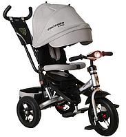 Трехколесный велосипед-коляска Azimut Crosser T-400 серый