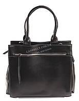 Стильная кожаная женская сумка черного цвета art. 832 Турция