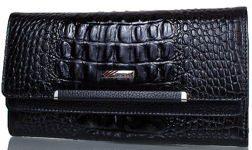 Безупречный женский кошелек из натуральной кожи DESISAN (ДЕСИСАН) SHI724-583-2KR черный