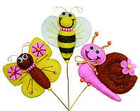 Набор игрушки из фетра В-196 Декор для комнатных растений Веселые букашки