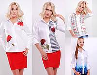 """Блуза с цветами """"Ларси"""" (р.S-L)"""