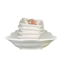 Набор квад.салатников 5 пр.(1 большой + 4 маленьких) Роза ST 50035