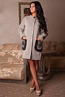 Пальто женское больших размеров демисезонное легкое ДЕМУР р. 44-58