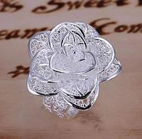 "Кольцо ""Цветок""925 серебрение на 8 марта"