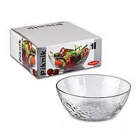 Большой стеклянный салатник O23см Piknik 53358