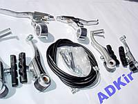 Комплект тормоза ободный набор V-brake ручки троса