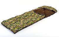 Спальный мешок одеяло с капюшоном камуфляж SY-4798